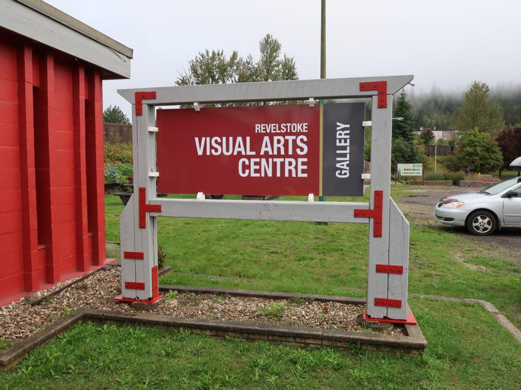 revelstoke visual arts centre gallery signage 1